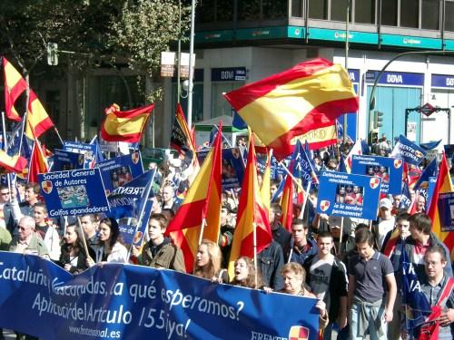 Acto político del FRENTE NACIONAL en Madrid.